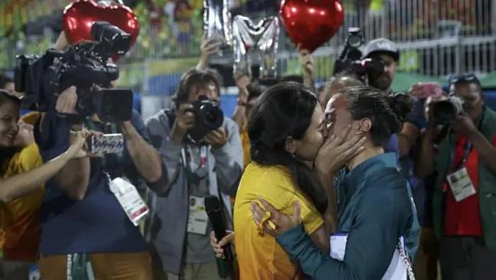 pareja lésbica juegos olímpicos