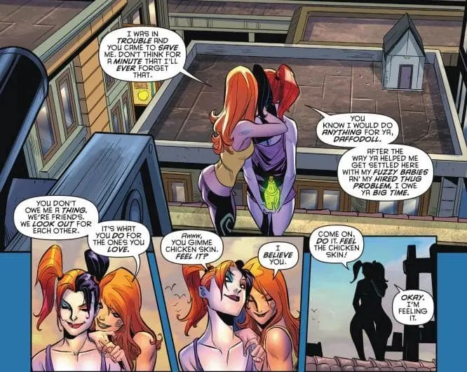 http://io9.gizmodo.com/harley-quinn-just-cut-ties-with-the-joker-in-the-most-s-1759700580