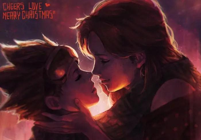 16 ilustraciones para festejar que Tracer es lesbiana y tiene novia