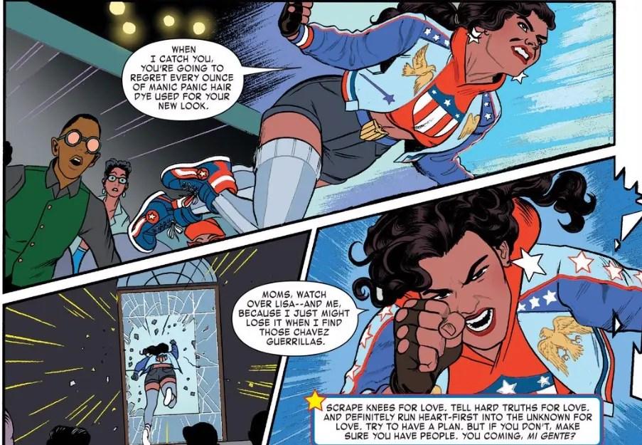 America Chavez enfadada