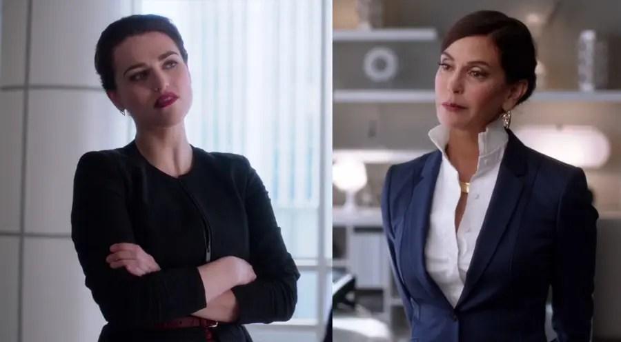 Lena y Rhea en Supergirl