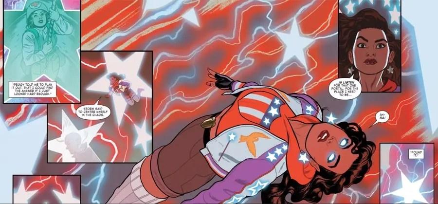 America Chavez pensando en la situación