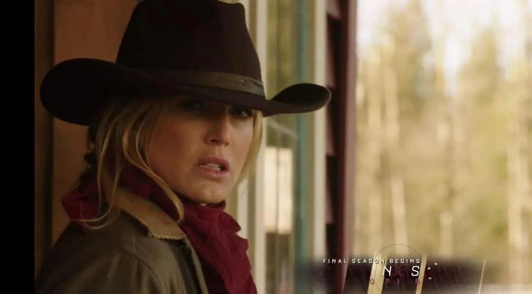 Sara Lance vestida de vaquera