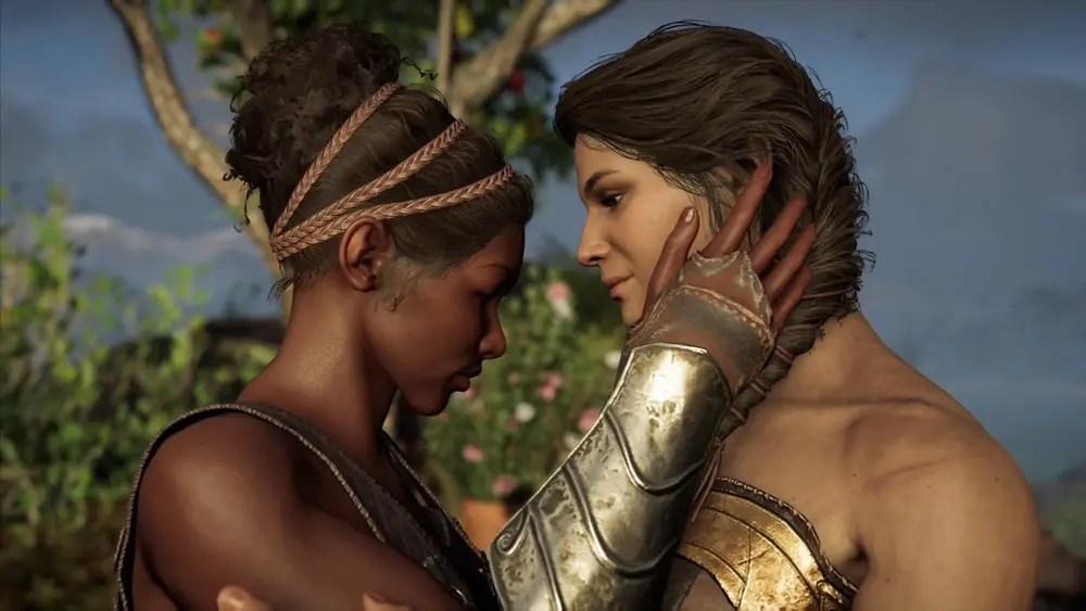 pareja lésbica assasyns creed odyssey