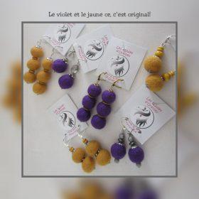Les violettes et jaunes