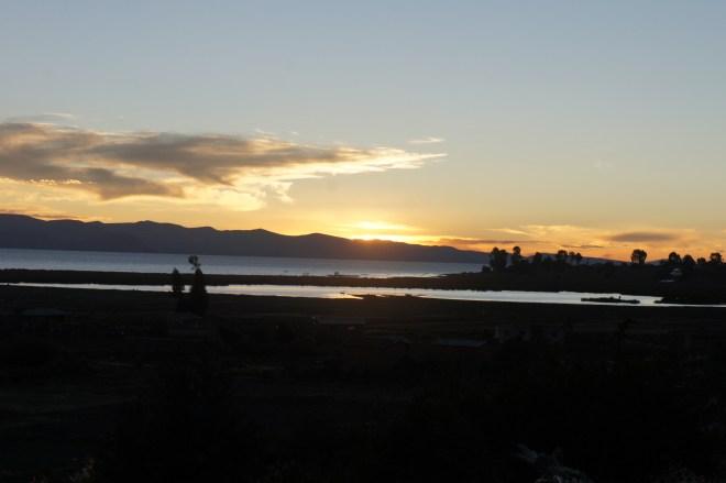 Premier coucher de soleil bolivien