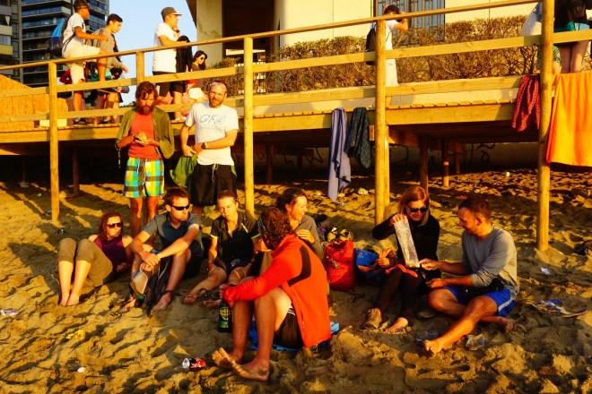 Soirée plage pour le premier bain de l'année