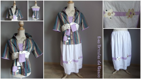 Ensemble customisation lin chemise et jupon