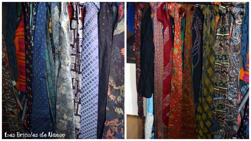 stock cravate customisation recyclage