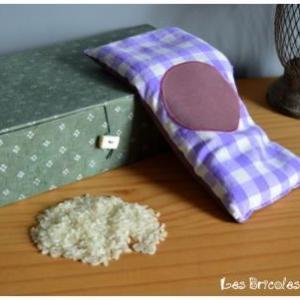 Bouillottinette violette à carreaux
