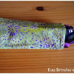 Porte lunette réversible vert et violet