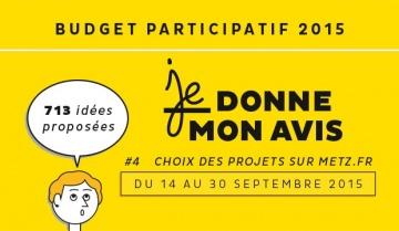 Metz a lancé en 2015 la seconde édition de son budget participatif. // Ville de Metz