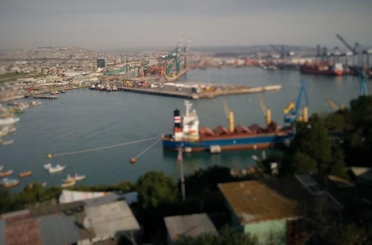 Vue du Port de San Antonio au Chili où plus d'un quart des habitants vote au budget participatif.