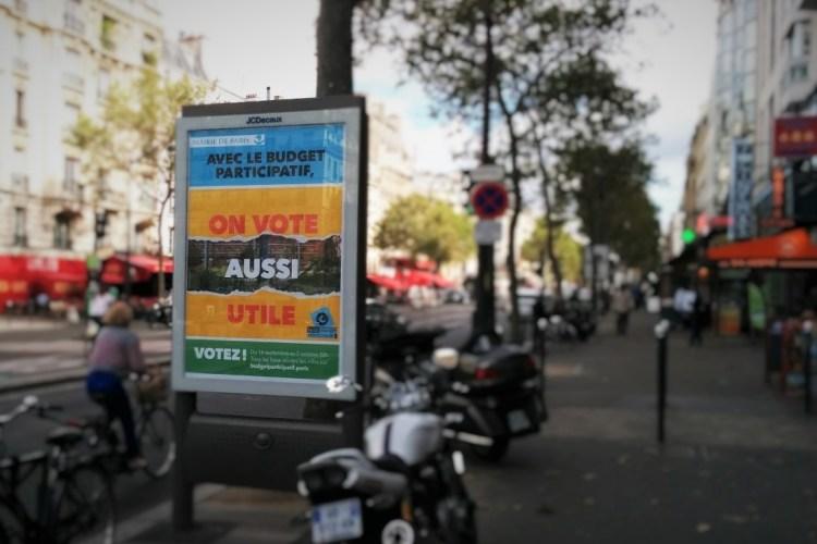 Communication autour du vote pour le budget participatif à Paris