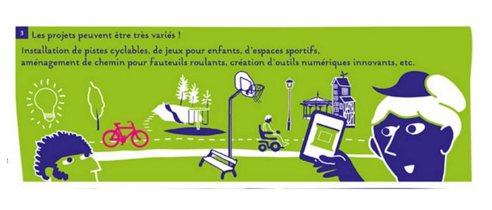 L'univers visuel du budget participatif de Rennes s'inspire de la BD.