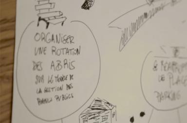 """La Ville de Paris a organisé des ateliers avec des citoyens autour du projet """"des abris pour les sans-abris"""", extrait d'un film de la Ville de Paris"""