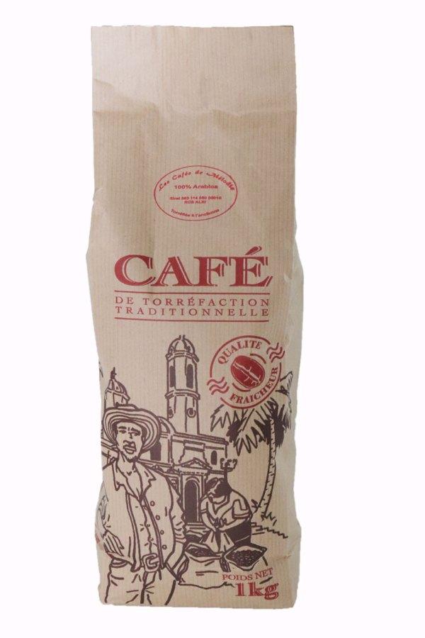 Paquet de 1kg de café torréfié