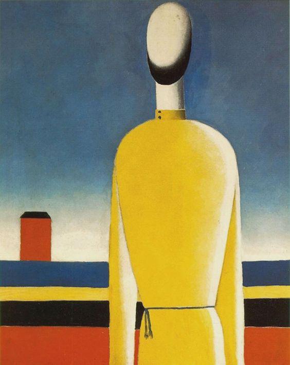 Homme en chemise jaune - Malevitch 1930