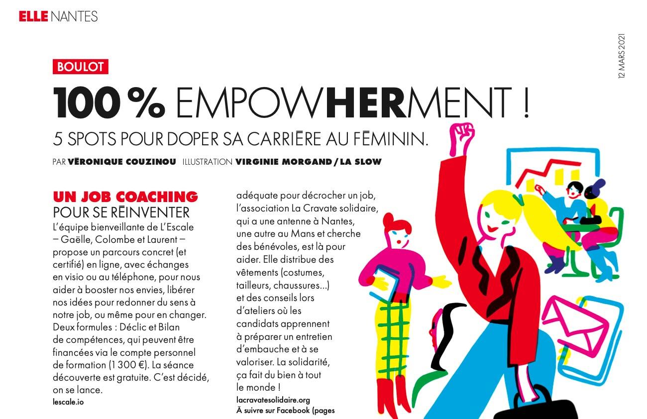 Extrait d'un article de Elle Nantes qui parle de L'Escale