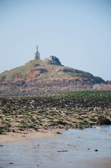 Ilot Saint Michel à marée basse
