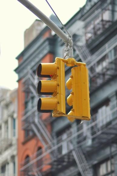 Feu de signalisation à New York