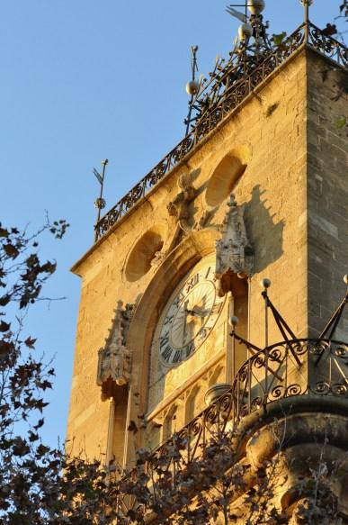 Horloge à Aix en Provence