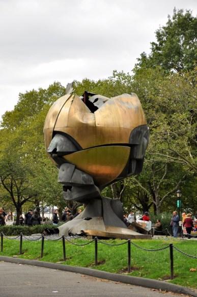 La sphère récupérée du World Trade Center