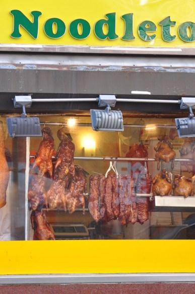 Canards laqués dans Chinatown à New York