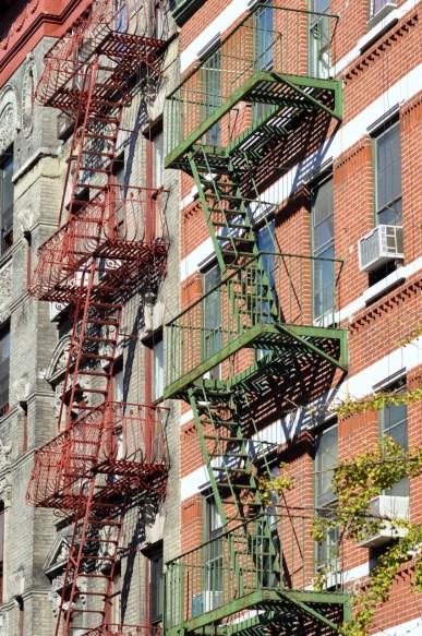 Escaliers de secours dans Little Italy à New York