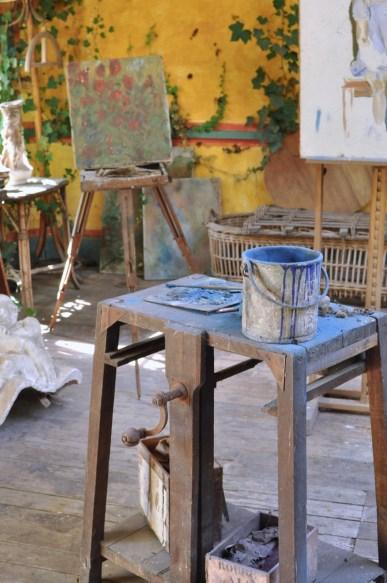 L'atelier des peintres de l'hôtel Baudry à Giverny