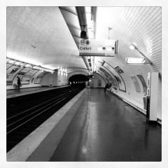 Seulement 1 minutes d'attente du métro pour rentrer. #100happydays