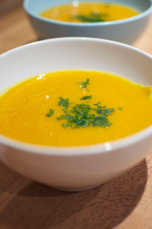 Soupe de potimarron et carottes