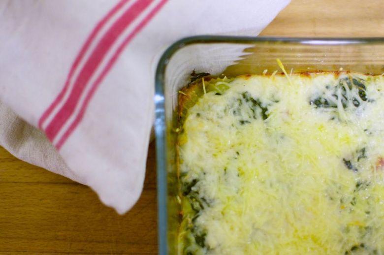 Lasagnes aux ravioles et aux épinards