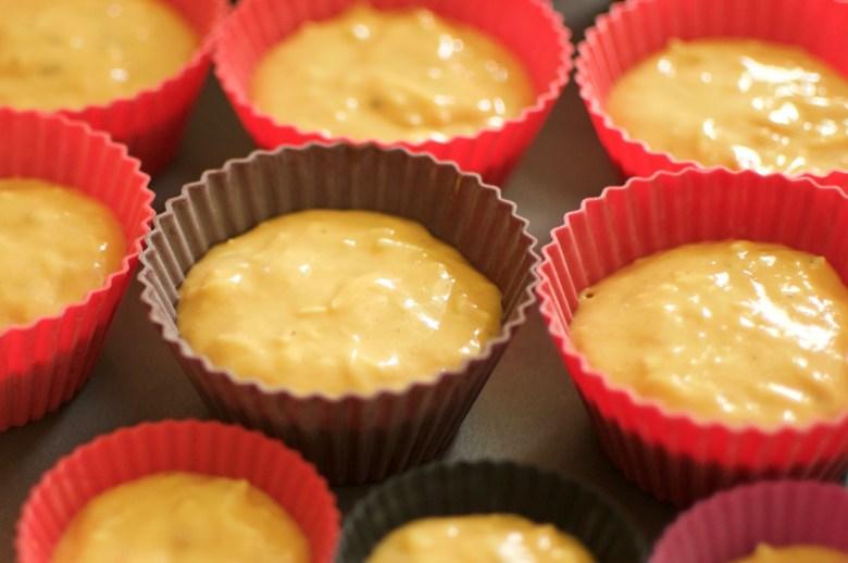 Muffins à la sauce tomates avant cuisson