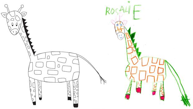 Comment Dessiner Une Girafe Les Carnets De Celeste