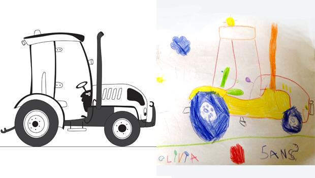 comment dessiner un tracteur les carnets de c leste. Black Bedroom Furniture Sets. Home Design Ideas