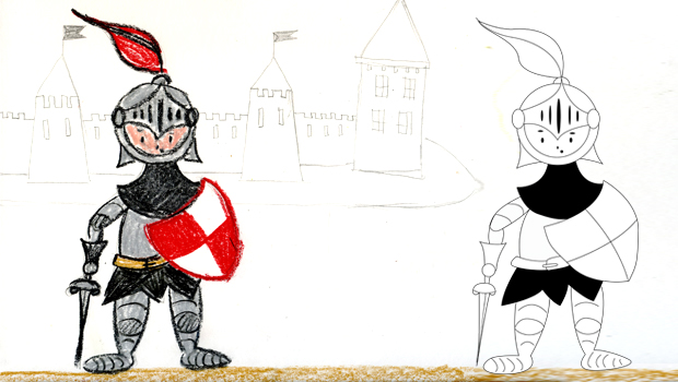 Comment Dessiner Un Chevalier Les Carnets De Celeste