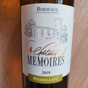 Château Mémoires – Bordeaux de Côtes 2019