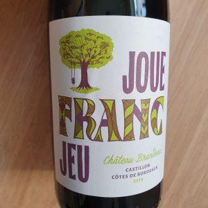 Joue Franc Jeu de Château Brandeau – Castillon Côtes de Bordeaux 2018