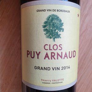 Clos Puy Arnaud – Grand Vin Castillon Côtes de Bordeaux 2014