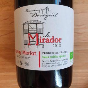 Le Mirador du Domaine de Bonaguil – Gamay Merlot 2018