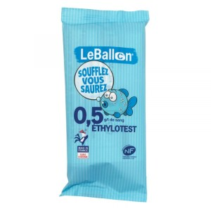 Ethylotest LeBallon 0.5g/l de sang