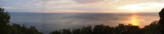 Vu sur l'Adriatique depuis notre bivouac