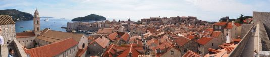 Dubrovnik : la vieille ville depuis les remparts