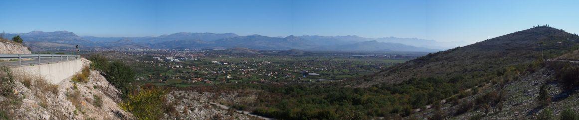 Arrivée sur la plaine de Podgorica