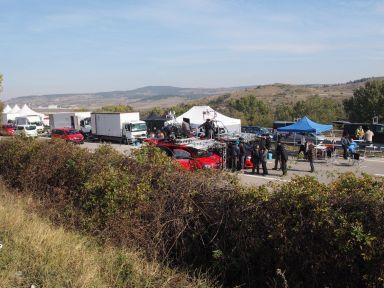 Nous croisons le tournage d'un film sur l'autoroute