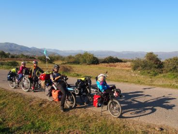 Sortie des montagnes au sud de la Macédoine