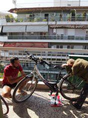 Entretien des vélos à Thessalonnique