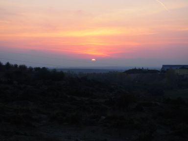 Premier coucher de soleil en Turquie
