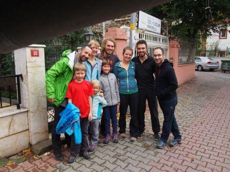 Photo souvenir avec Pablo, Anna, Simon et Kerem
